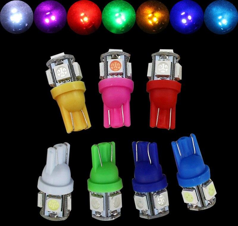 10 X T10 W5W 5smd 5050 194 168 Clearance bulbs Car LED Lamps DRL 4300 6000 8000 10000K 12V COB LED