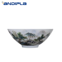 60 мл бутик Цзиндэчжэнь синий и белый фарфор расписанный вручную пейзаж чайная чашка мастер чашка шляпы чашка креативная чайный набор кунг-ф...