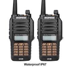 2017 новый baofeng uv-9r ручной talkie walkie 8 Вт uhf vhf УФ Dual Band IP67 Водонепроницаемый Двухстороннее Радио Переговорные Трансивер 2 шт.