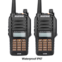 2017 nuovo baofeng uv-9r palmare walkie talkie 8 w uhf vhf UV Dual Band IP67 Impermeabile Two Way Radio Ricetrasmettitore del Interphone 2 pz