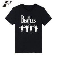 LUCKYFRIDAYF The Beatles T Shirt Men Short Sleeve Rock Band Classical Pattern T Shirt Men Hip