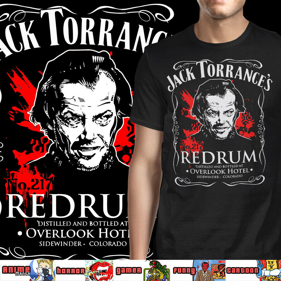 Red Rum The Shining Vintage Horror Movie New Tops 2019 Print Letters Men T-shirt 100% Cotton Print Bob Marley T Shirts Cheap Sales 50%