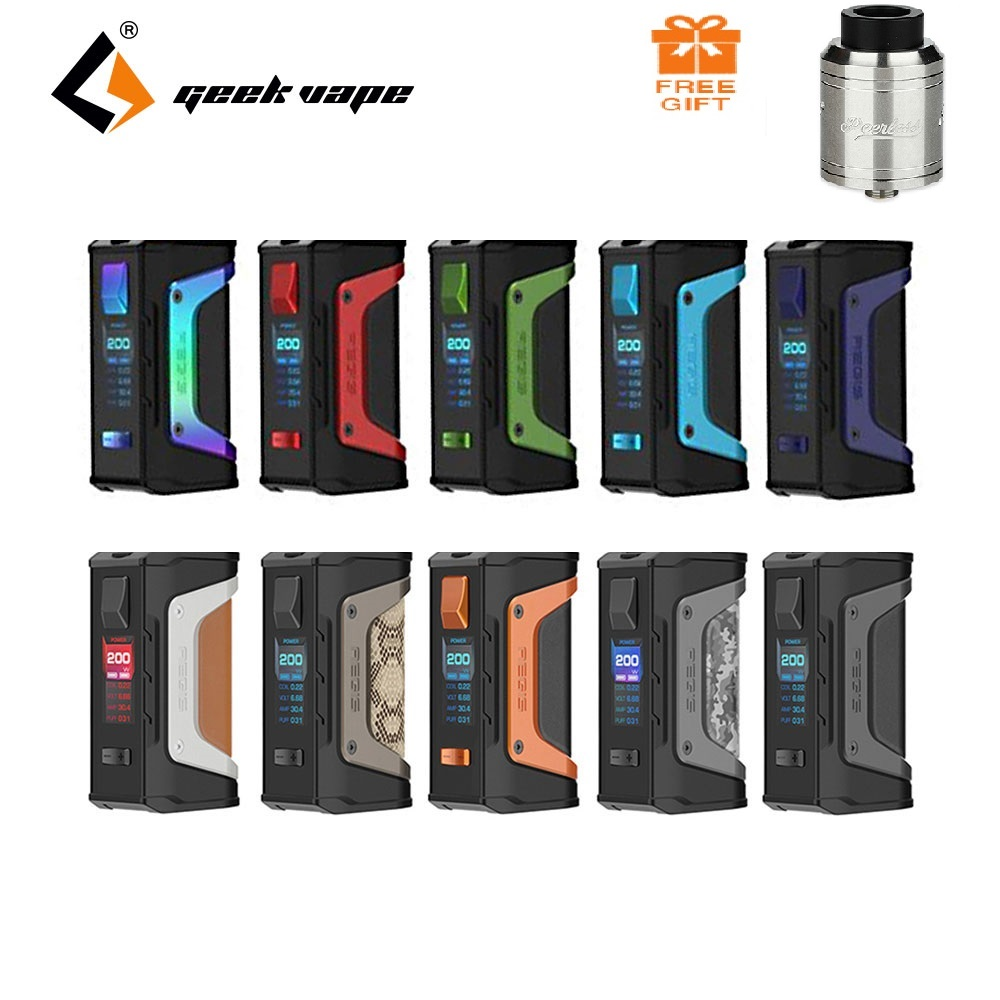 Tanque gratis GeekVape Aegis Legend 200 W TC Box MOD nuevo como chipset Power por Dual 18650 batteries e cigs No bateria Aegis Legend MOD