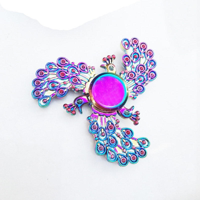 Cool Peacock Fidget Spinner Metal ADHD EDC Finger Toys ...