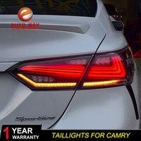 Стайлинга автомобилей задние фонари чехол для фонарь чехол для Toyota camry 2017 2018 RS TYPE задние фонари светодио дный taillghts задние лампы светодио дны