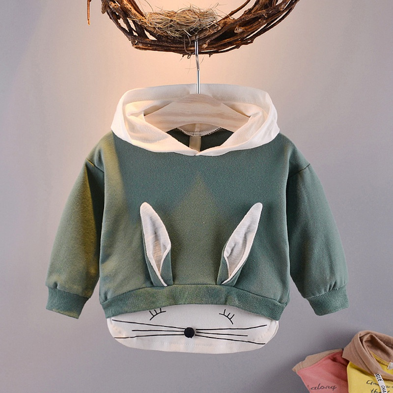 Coats Outwear Hooded-Sweatshirts Autumn Long-Sleeve Girls Rabbit Boys Baby Kids Cartoon title=