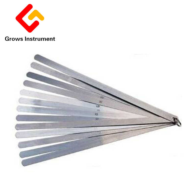 High Strength Metric Long Feeler  0.02 To 1mm 17 Blades 30cm Thickness Gap Metric Filler Feeler Gauge Measure Tools