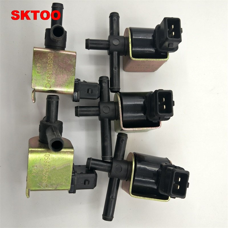 SKTOO 5pcs New N75 Change Over Valve Boost Control Valve 058 906 283 C for Audi
