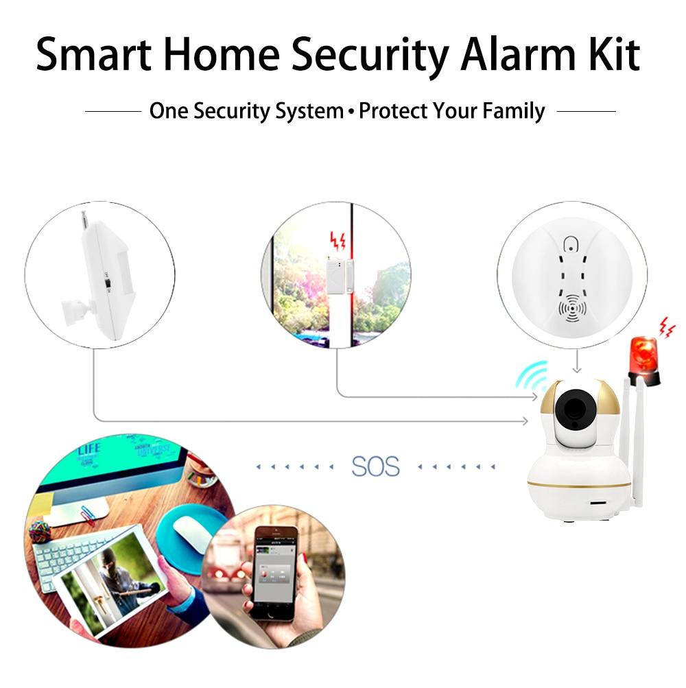 Wistino Alarm Systems Security WIFI IP Camera Security System Video Monitor Surveillance Camera Wireless Home Alarm System With Sensor Alarm Wifi kit Smart Home Camera (8)