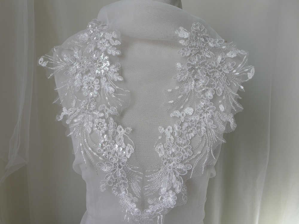 White applique lace pairs u pretty cute fabric lace