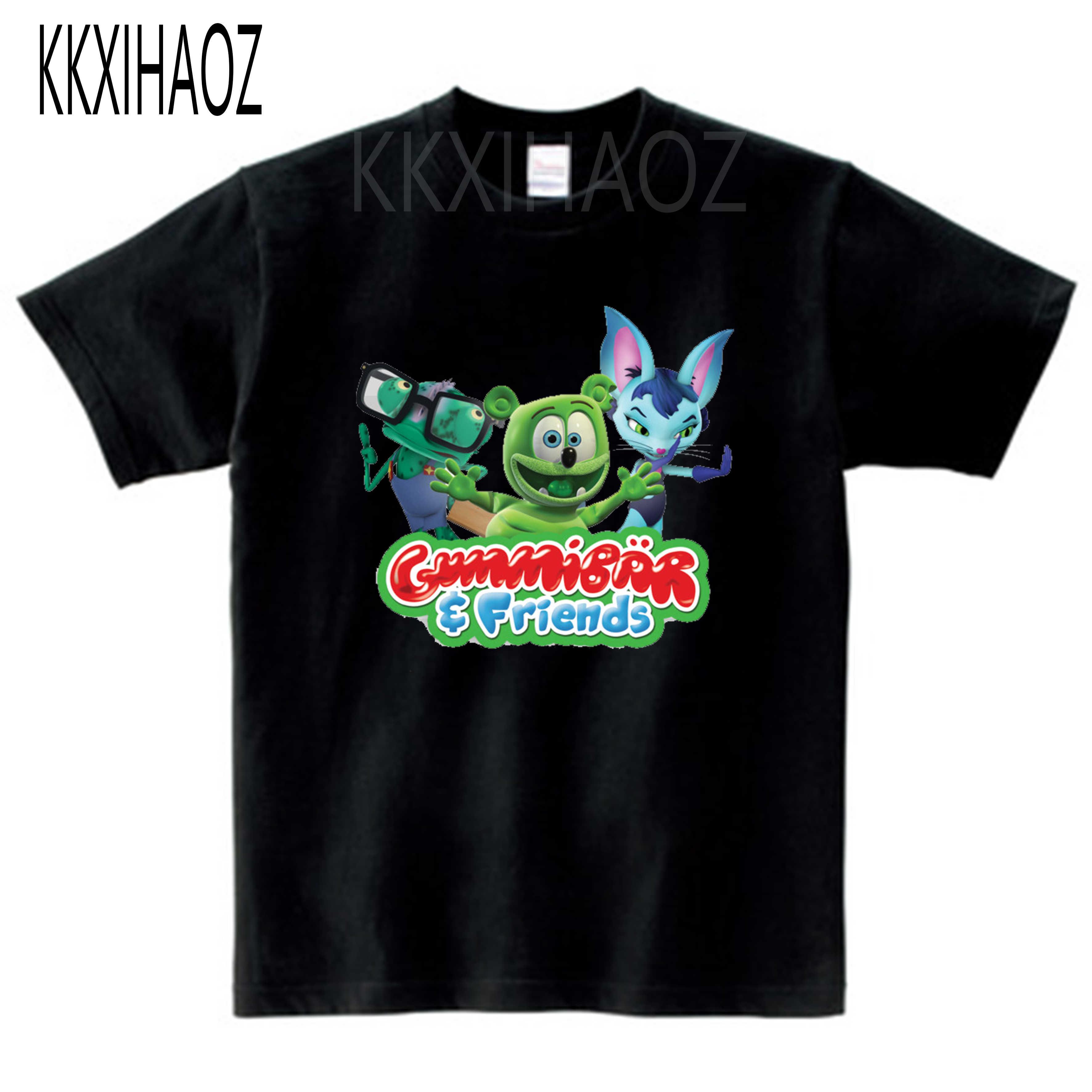 Gummy Bear T-Shirt moda osobowość dziecko 2019 lato śmieszne na co dzień druku chłopiec T Shirt dziewczyny tshirt MJ