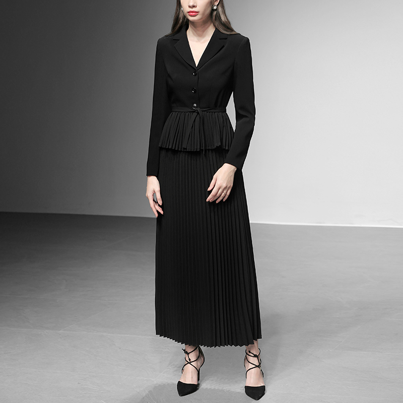 2 2019 Noir Coréen Dames Blazer Élégantes Et Pièces Vêtements Ensemble Printemps Pièce Bureau Deux Tenues Femmes Jupe txwqFwYgp