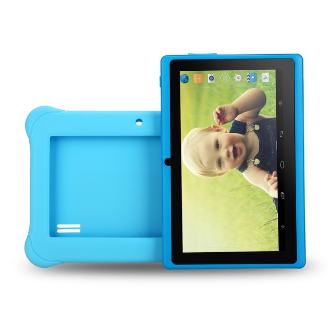 iRULU Y1 BabyPad 7» Android 4.4 Tablet for Kids Quad Core  Dual Cameras Google GMS Test 1GB RAM with Silicone Case Candy Color