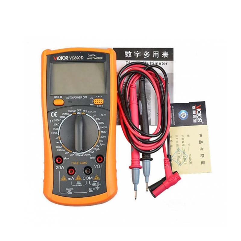 PHONEFIX VC890D True RMS Capacitor Digital Multimeter 2000uF Backlight Tester Current Voltage Resistance Capacity Reading Tool