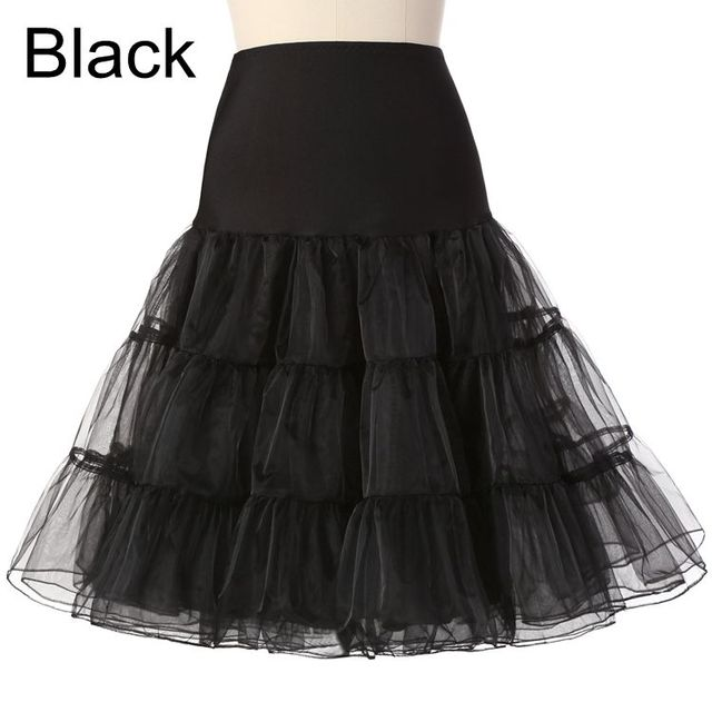 Free Short Organza Halloween Petticoat Crinoline Vintage Wedding Bridal Petticoat for Wedding Dresses Underskirt Rockabilly Tutu 3