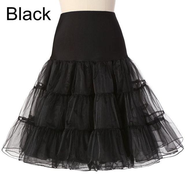 Darmowe krótki organza Halloween Petticoat crinoline Vintage ślub ślubne Petticoat na Suknie ślubne underskirt rockabilly Tutu