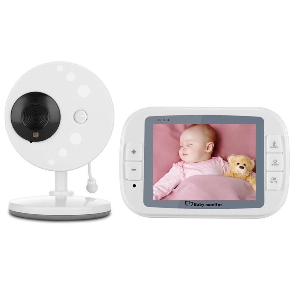 babykam baby phone camera video baby monitor 3.5 inch IR Night Vision Temperature Sensor Lullaby Intercom babyphone camera nanny