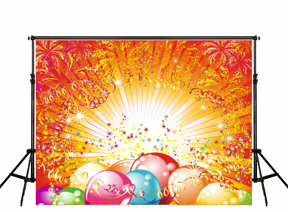 3x5ft Photographic Background Kid's Party Celebration Backdrops Colorful Eggs Shiny Bright Photo Studio Custom Vinyl Backgrounds
