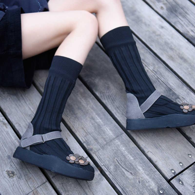 Artmu/оригинальные повседневные удобные ботинки до середины икры на плоской