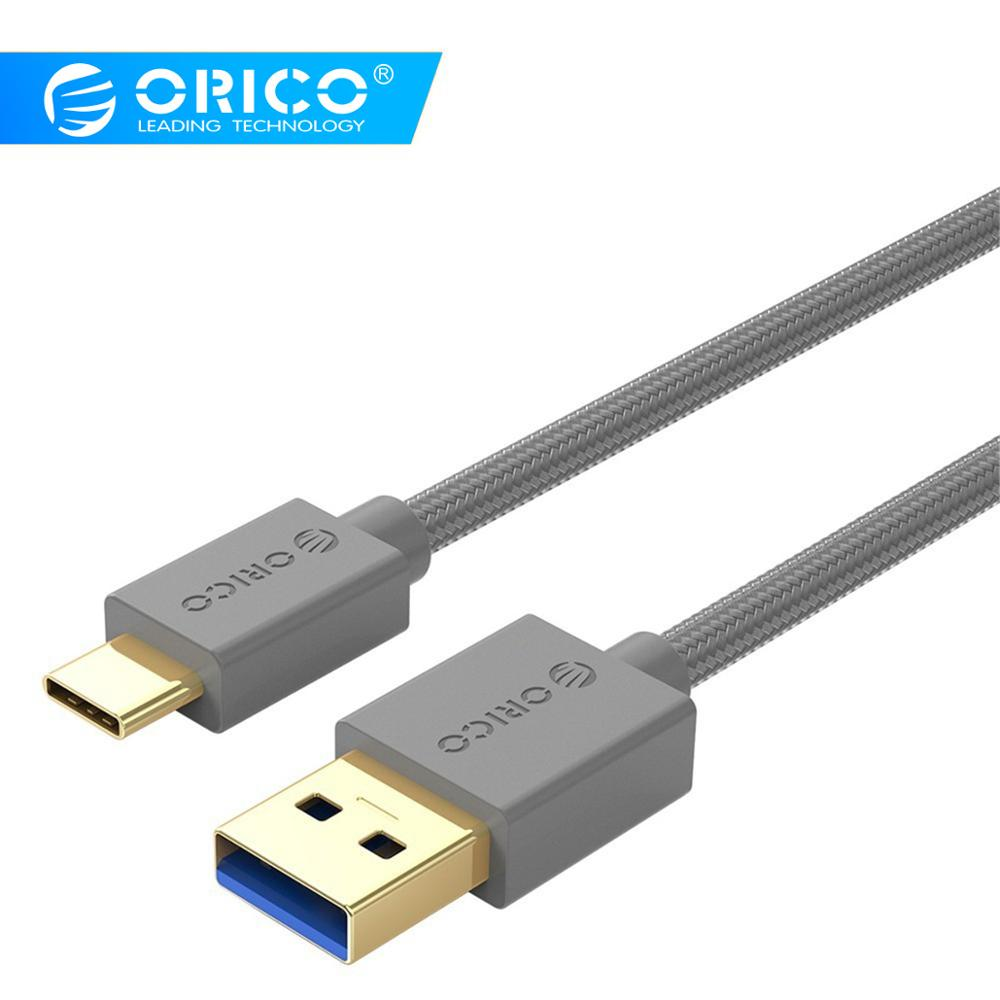ORICO USB 3.0 Type-A To Type-C Charging Cable USB 2.0 / USB 3.0 High Speed Transmission Cable For PC Laptop 0.5m/1.0m/1.5m/2.0m