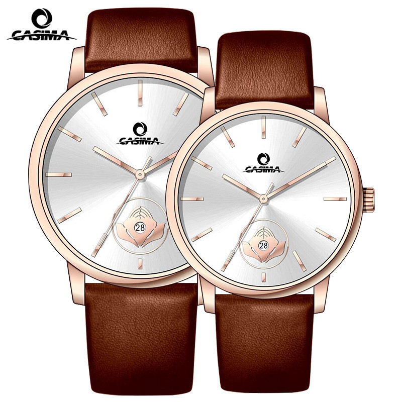 CASIMA Luxury Brand Watch Men Women Couple Lover's Wrist Watch Leather Casual Quartz Watch Clock Saat Relogio Masculino Feminino longbo brand genuine leather lovers quartz watch simple style women men casual watch waterproof relogio masculine feminino clock