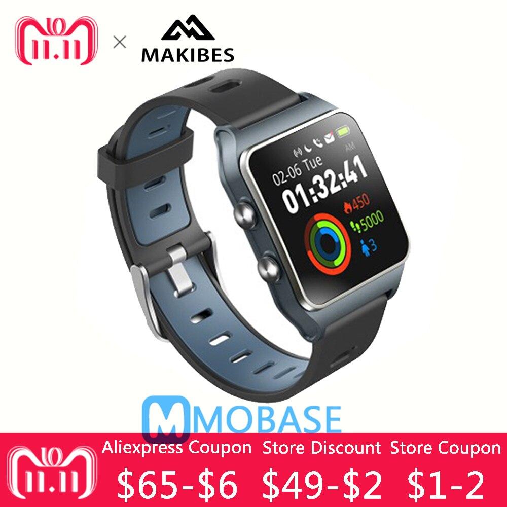 Makibes BR3 GPS Smartwatch support Strava IP68 étanche homme montre IPS écran cadeau bracelet Fitness tracker pour Xiaomi MI8 pour IOS