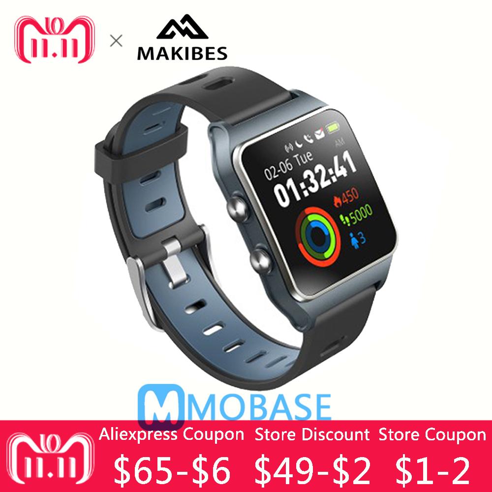 Makibes BR3 GPS Smartwatch support Strava IP68 Waterproof Man Watch IPS screen Gift Strap Fitness tracker for Xiaomi MI8 for IOS