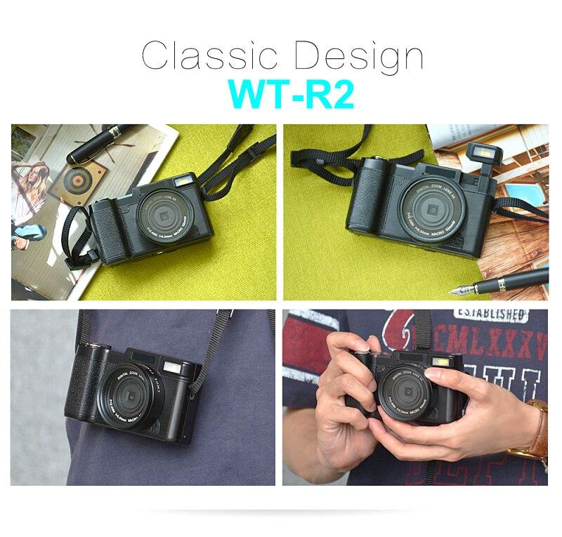 Winait 24Mp Full HD 1080P Professional Digital Camera DSLR Camera WT-R2 3.0″ TFT LCD Display SD Card Max To 32GB Freeshipping