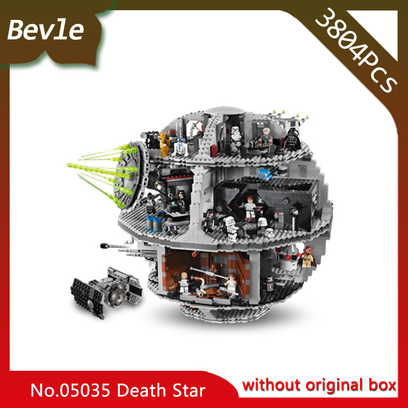 Bevle Store LEPIN 05035 3803Pcs star space Series Death Star machine Model Building Blocks Bricks For Children Toys 10188 Gift lepin 05035 star wars death star limited edition model building kit millenniums blocks puzzle compatible legoed 75159