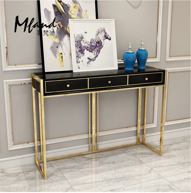 90cm High Console Table / Metal Feet With Golden Varnish / Buy Sofa Get This Table Free