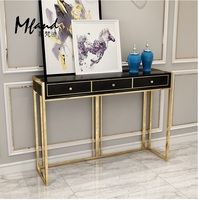 90cm High Console Table / Metal Feet with Golden Varnish