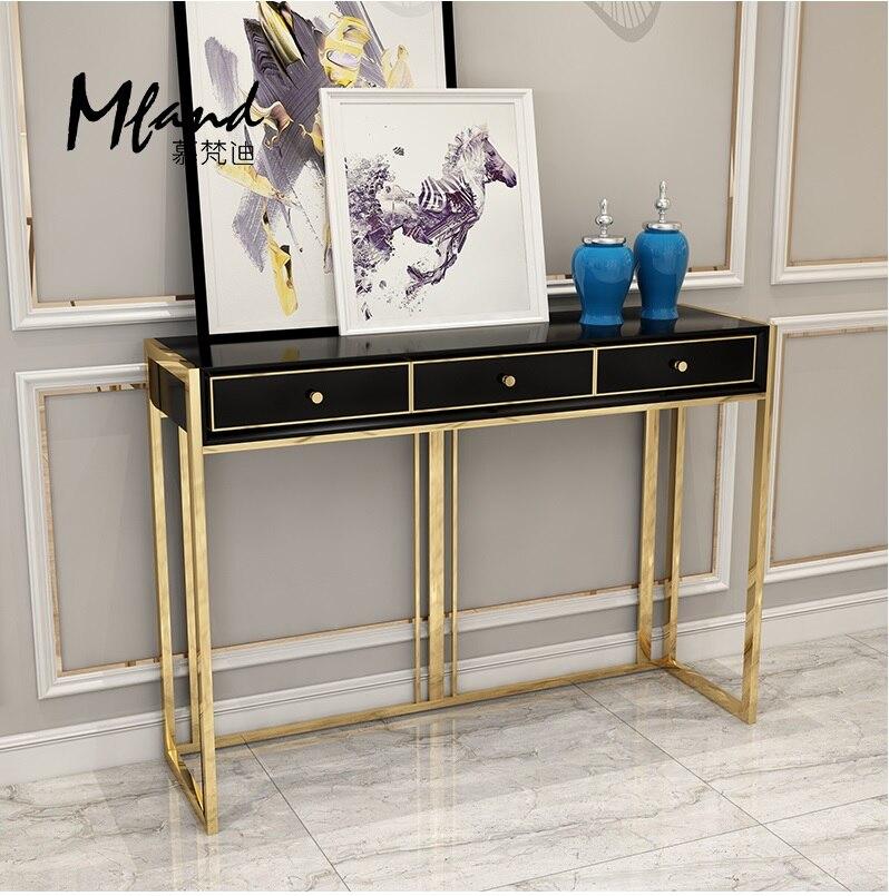 Table Console haute 90 cm/pieds métal vernis doré/achat canapé obtenez cette Table gratuitement