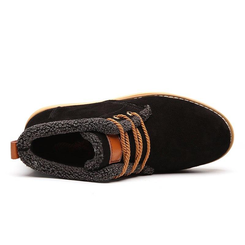 Calçados Homens Genuínos Neve Botas De Preto Couro Segurança Calçado Boots azul Andando Sapatos Adulto Para Pele Quente Casuais Masculinos Ankle Inverno Sneakers Urqx4U0Tw