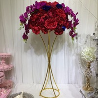 10PCS/lot Free Shipping Flower Pillar Gold Metal Flower Stand Beautiful Shape Frame for Wedding Party Event Decoration