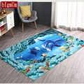 Ковер для спальни, мульти размер, 3D Дельфин/камень/цветочный/дерево, мягкий напольный ковер, морской океан, для гостиной, напольный коврик, н...
