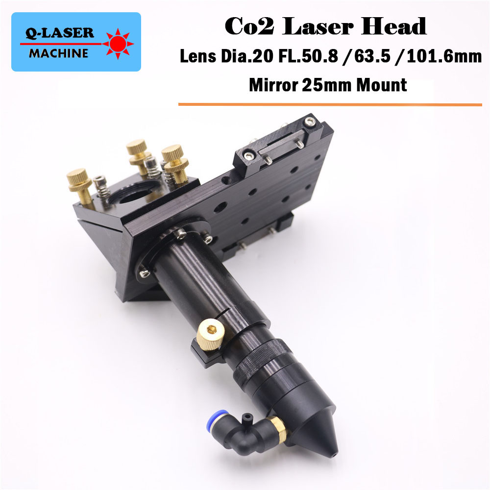 High Quality CO2 Laser Cutting Head for Focus Lens Dia.20 FL.50.8 63.5 101.6mm & Mirror 25mm Mount best quality laser lens mount for co2 laser cutting machine laser head 25mm