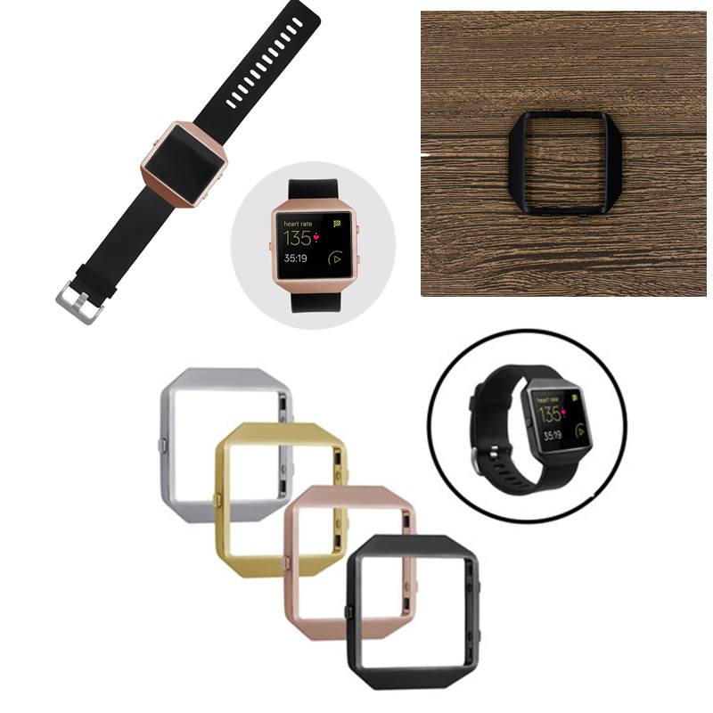 ASHEI New Style Watch Accessories For Fitbit Blaze Frame Stainless Steel Protective Metal Holder Case Cover Shell Housing superior nylon watch band wrist strap steel metal frame for fitbit blaze smart watch dec 12