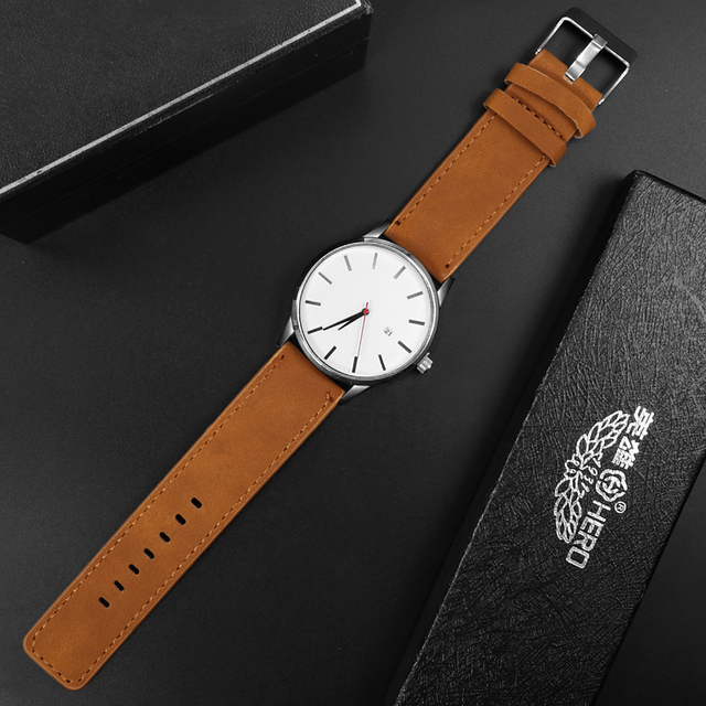 Fashion Top Brand Luxury Men Sport Leather Watches 3