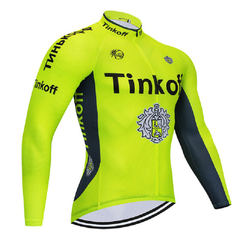 Tinkoff Cycling jersey 2019 winter thermal fleece bicycle clothing ropa ciclismo hombre invierno MTB bike jersey Top wear 2018 maillot ropa ciclismo invierno tinkoff winter cycling jersey thermal fleece long sleeve cycling clothing set mtb bike wear