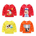 2-10 Years Boys T-shirt Kids Tees Baby Boy T Shirts Children Tees 100% Cotton Cartoon Printed Cardigan 9 Colors Shirts