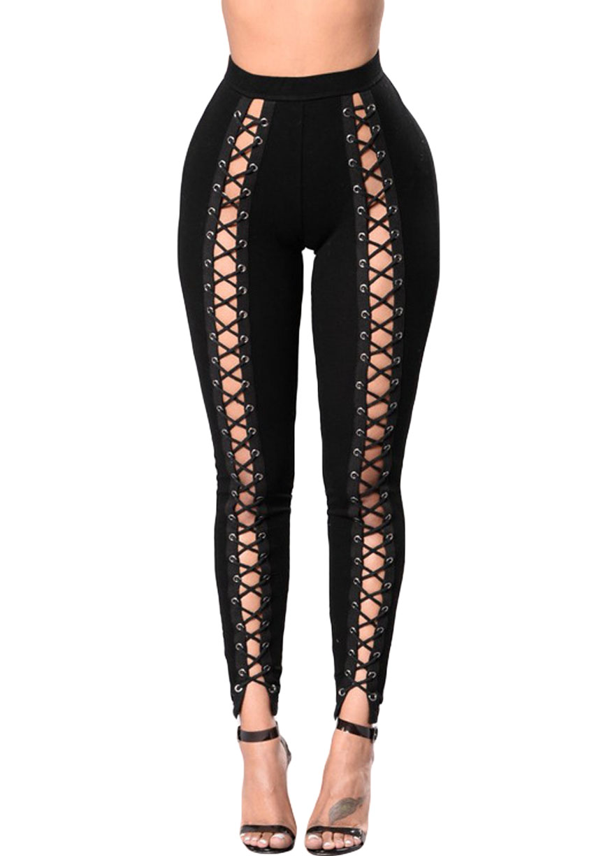 Jul 12,  · Tripp NYC one-ups your old black skinnies with the awesome lace-up detail on both legs of this killer pair of pants. 2 pocket styling with a zip fly and button close. Tip: These pants will go great with your favorite band tee.5/5(3).