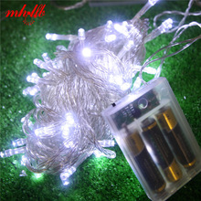 hot deal buy 1.2/2.5/5m led string lights battery new year christmas tree light fairy wedding room garden home outdoor lighting decoration
