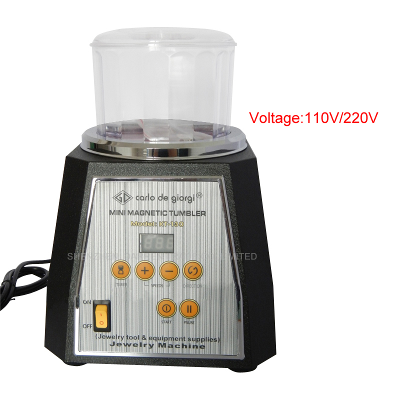 KT 130 Magnetic Tumbler 130mm light ferrous metals Polisher & Finisher Super Finishing Polishing machine