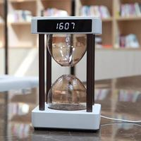 Anti gravity time hourglass water drop backflow creative display black tech air purifier Christmas day valentine day gift