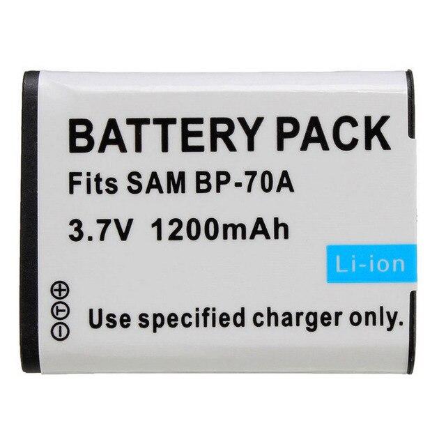 1 Шт. Новый 1200 мАч 70A BP70A BP-70A Литий-Ионный Аккумулятор для SAMSUNG ES65 ES70 TL105 TL110 PL100