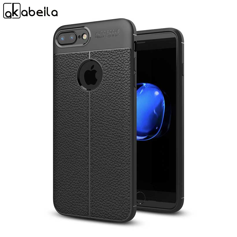 AKABEILA Case Cover For iPhone 7 Plus iPhone7Plus iPhone7Pro PU Leather Lichi Texture Cases Shell Coque Fundas Housing