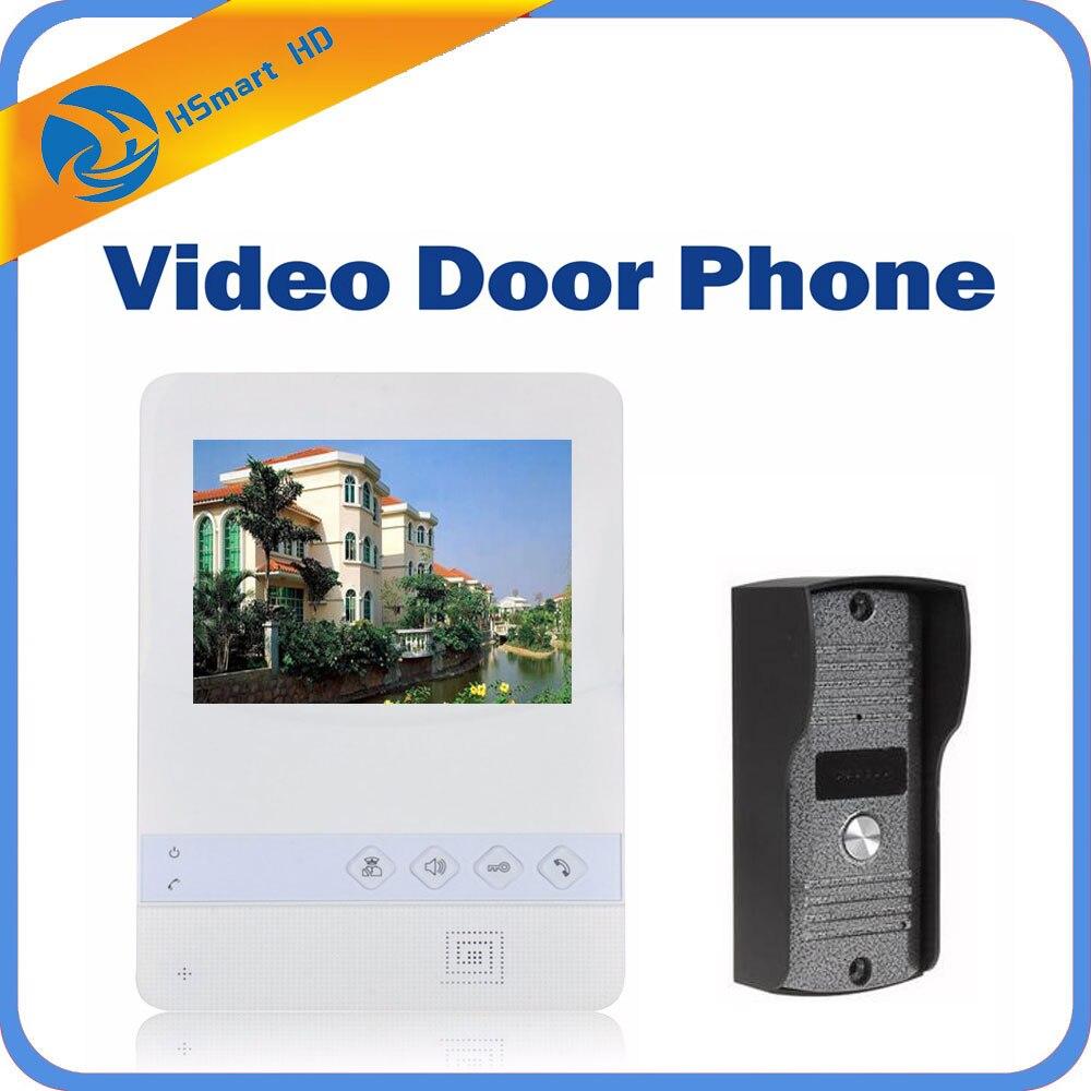 Home 4.3 inch Color Video Door Phone Door bell Video Intercom Monitor Kit IR Night Vision Camera Door bell for Apartment