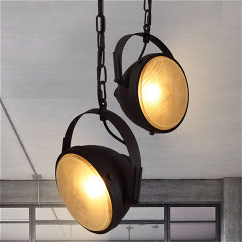 Industrial Vintage Pendant Light LED Iron Car HangLamp Retro Loft Lamp Deco Home Lighting Lights Antique Lampara Colgante