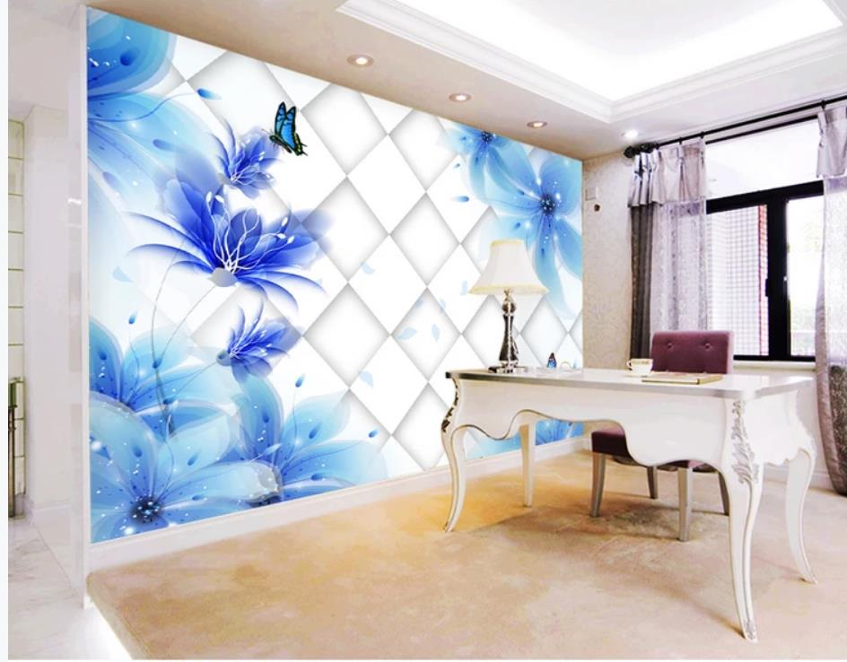modern wallpaper walls Blue lily 3D TV background wall mural 3d wallpaper 3d wall papers for tv backdropmodern wallpaper walls Blue lily 3D TV background wall mural 3d wallpaper 3d wall papers for tv backdrop