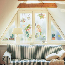 цена на  45*60/60*90/80*120cm Static Cling Window Film Frosted Opaque Privacy Stained  Glass Sticker Home Decor BLT825 Flower Song